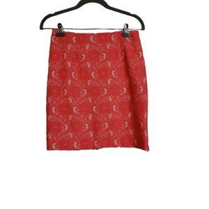 CHIC Coral Lace Lined Skirt 6